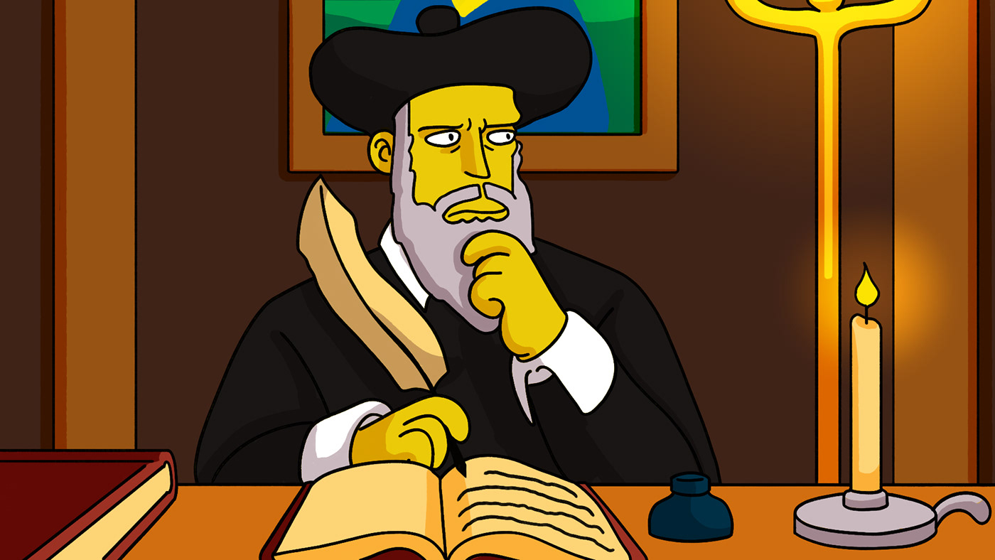 Image may contain: cartoon, human face and hat