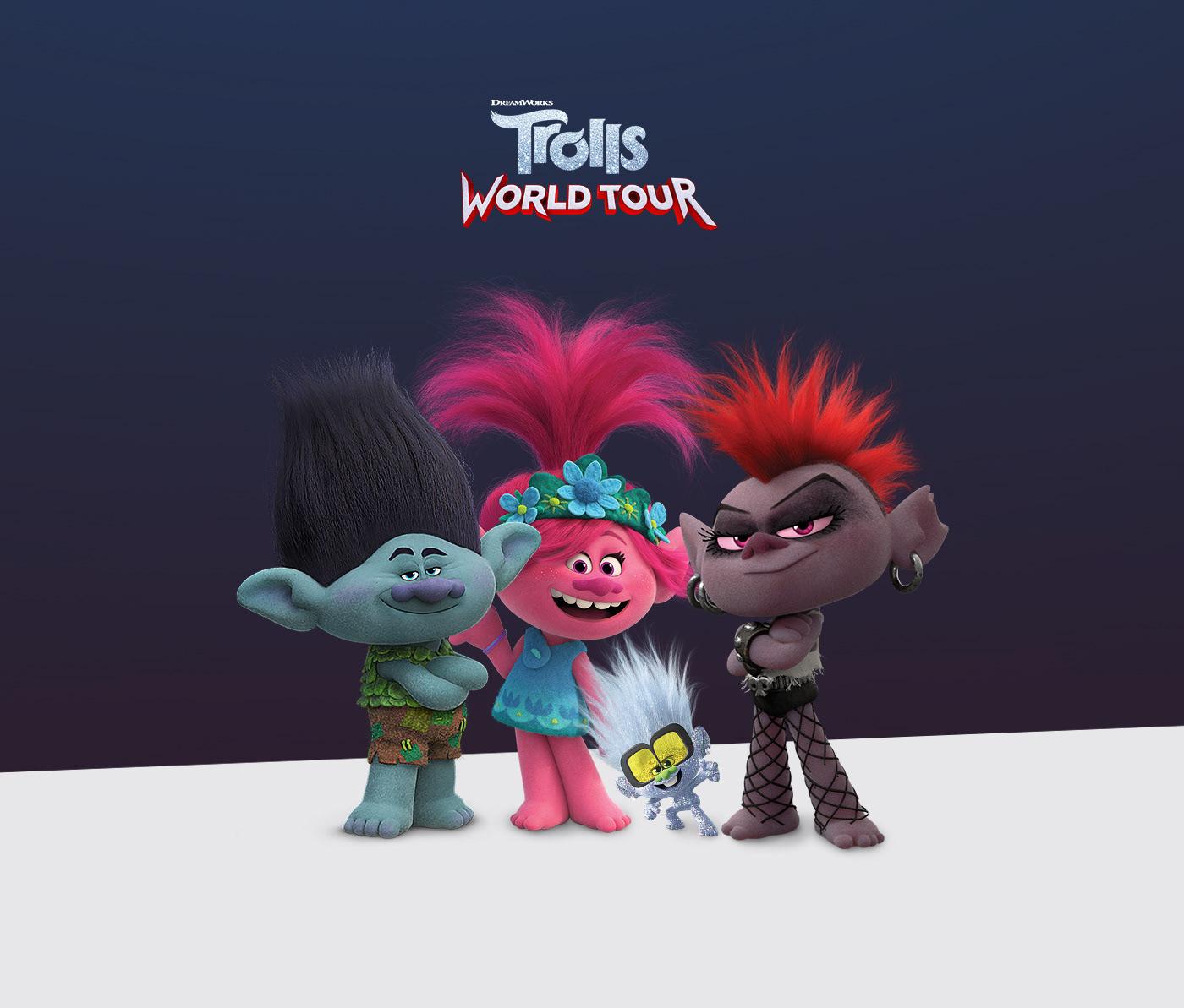 Trolls movie AR game kids