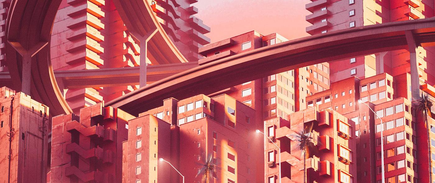 sci-fi city styleframes