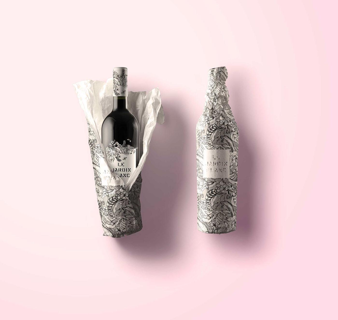Le jardin tattoo wine packaging on behance for Le jardin high wine