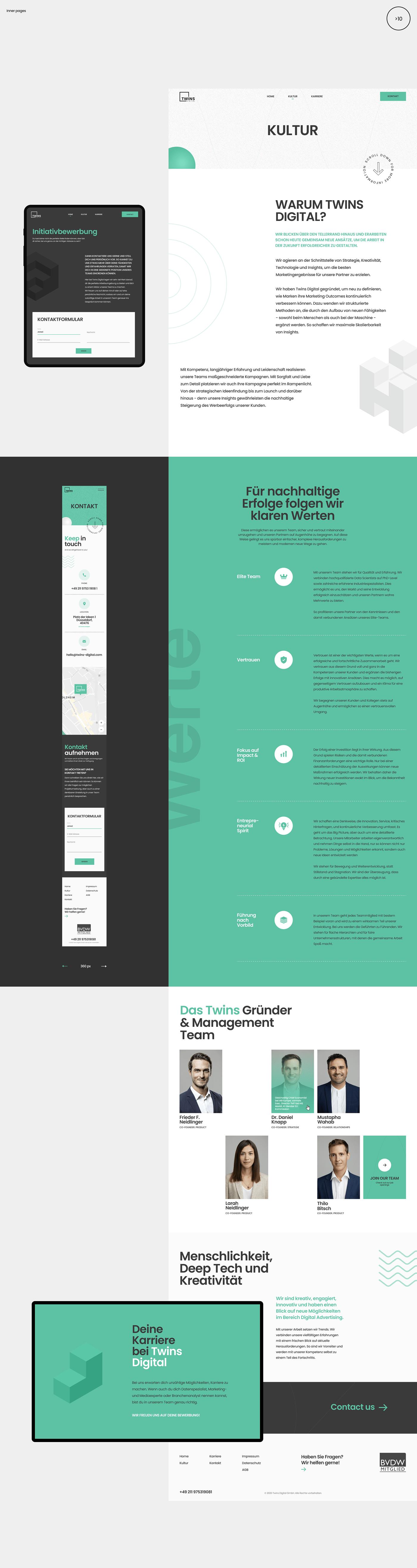 agency branding  clean digital green Isometric marketing   minimal portfolio Web