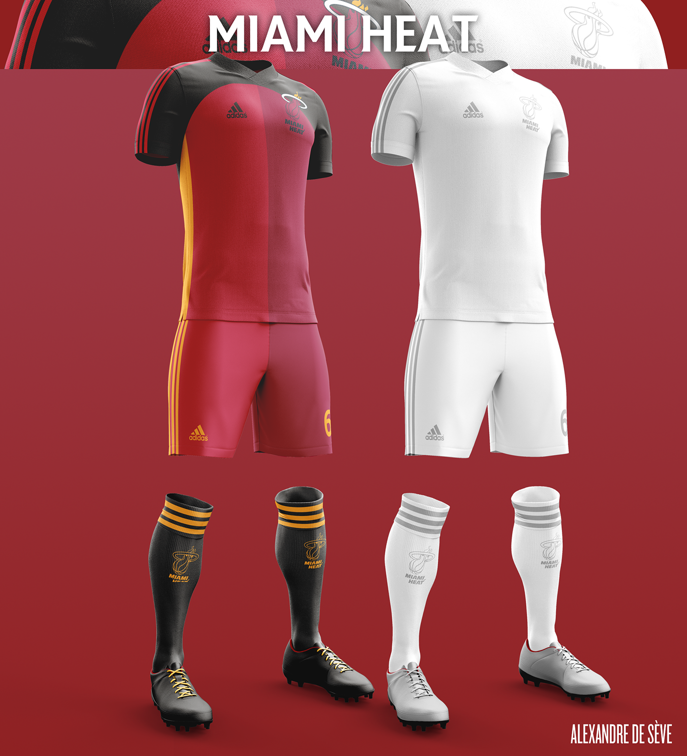 Talisman & Co. | Miami Heat Soccer Concept Kit