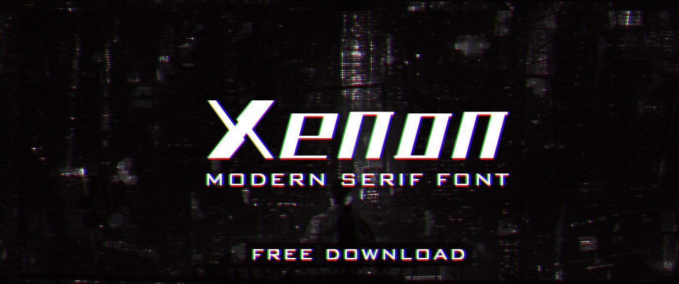 Free font Modern Serif satheeshlive Typeface Xenonfont XenonType
