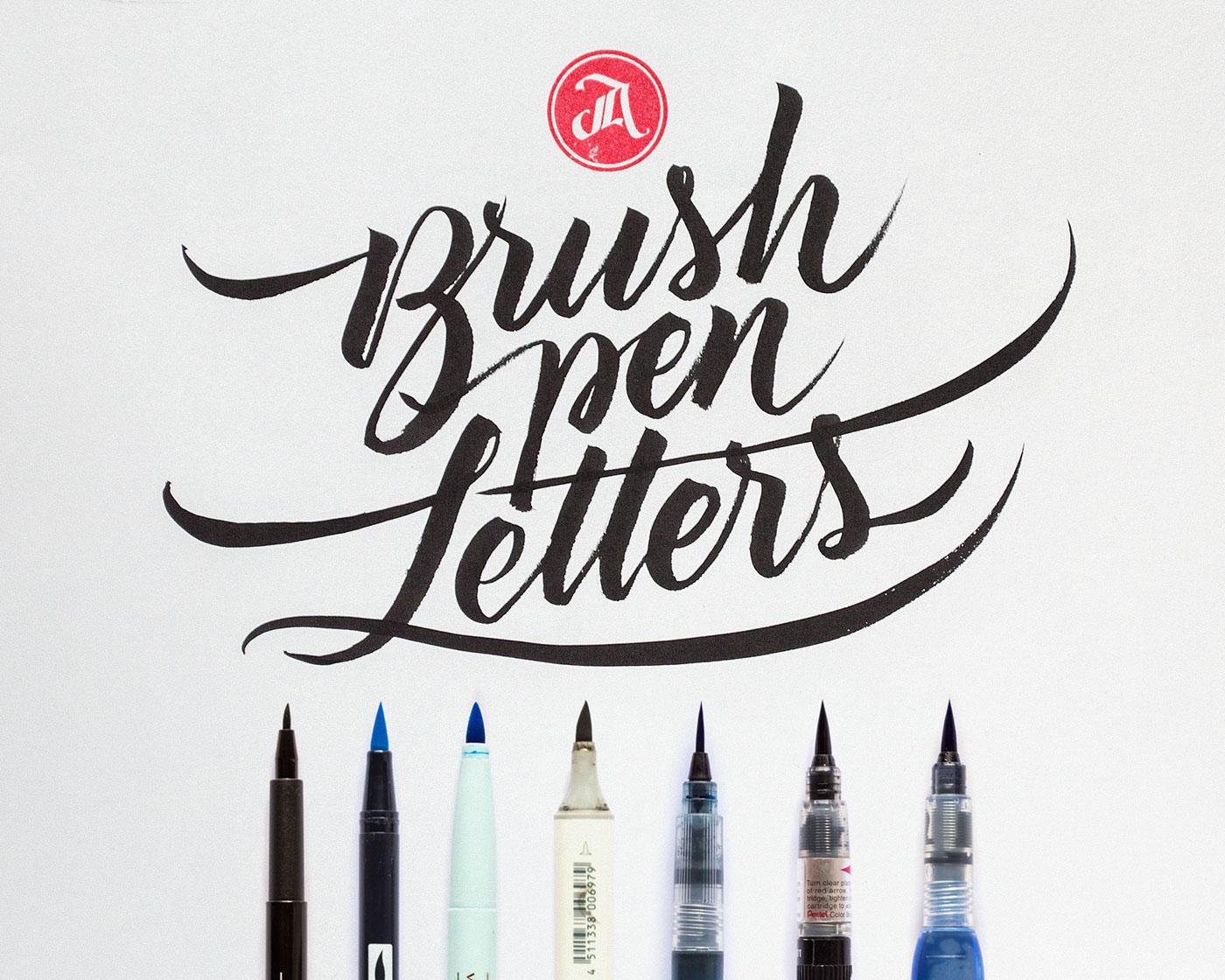 Brush pen Letters Workshop on Behance