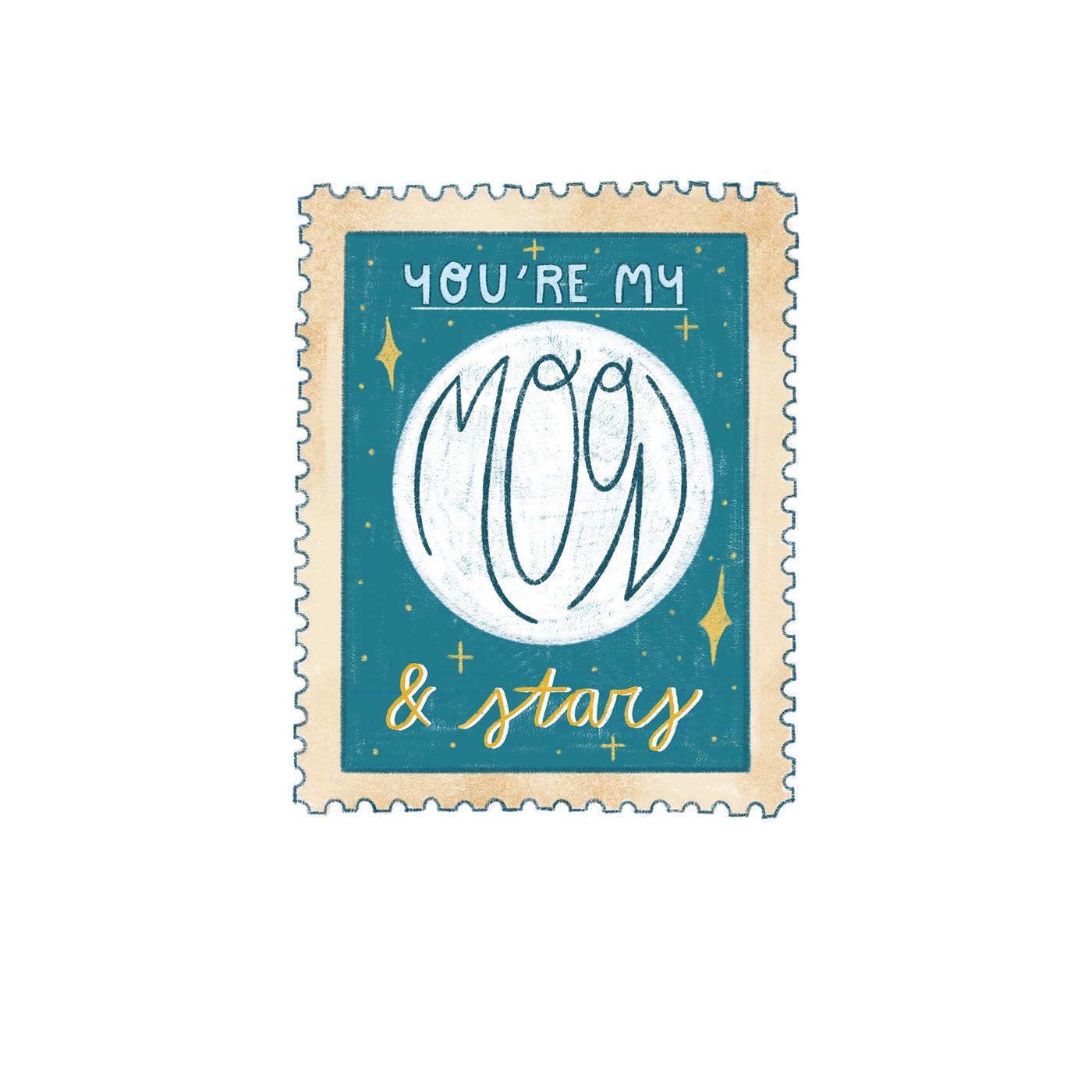 art licensing ILLUSTRATION  lettering Lettering Illustration stamps