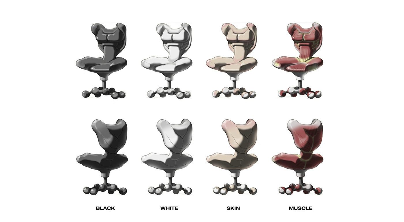 chair furniture anatomy bone Korea LSMC skeleton skin skull Totoo