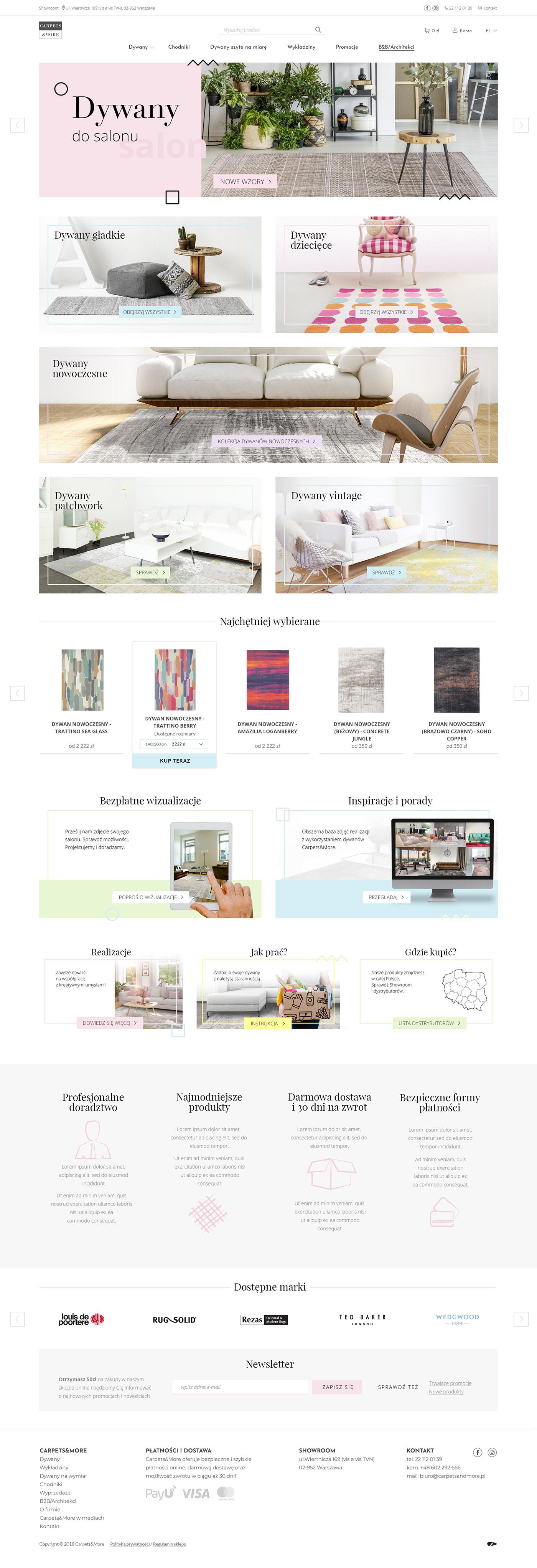 Ecommerce shop webshop web shop carpets carpet Webdesign geometric pastel expensive