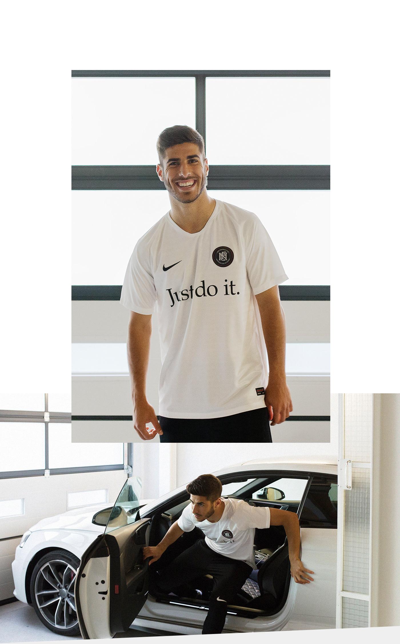 Nike FC portrait marco asensio photo football just do it photoshoot free madrid