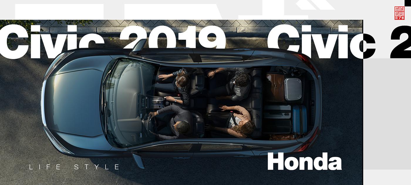 automotive   car Honda carphotographersclub hondacivic photoshop automotivephotography CGI 3D AutomotiveCGI