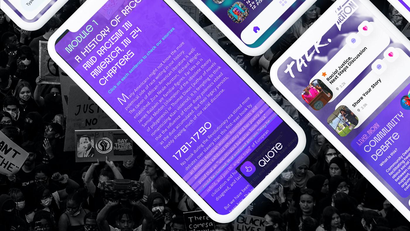 action activism app deck pitch political protest UI/UX