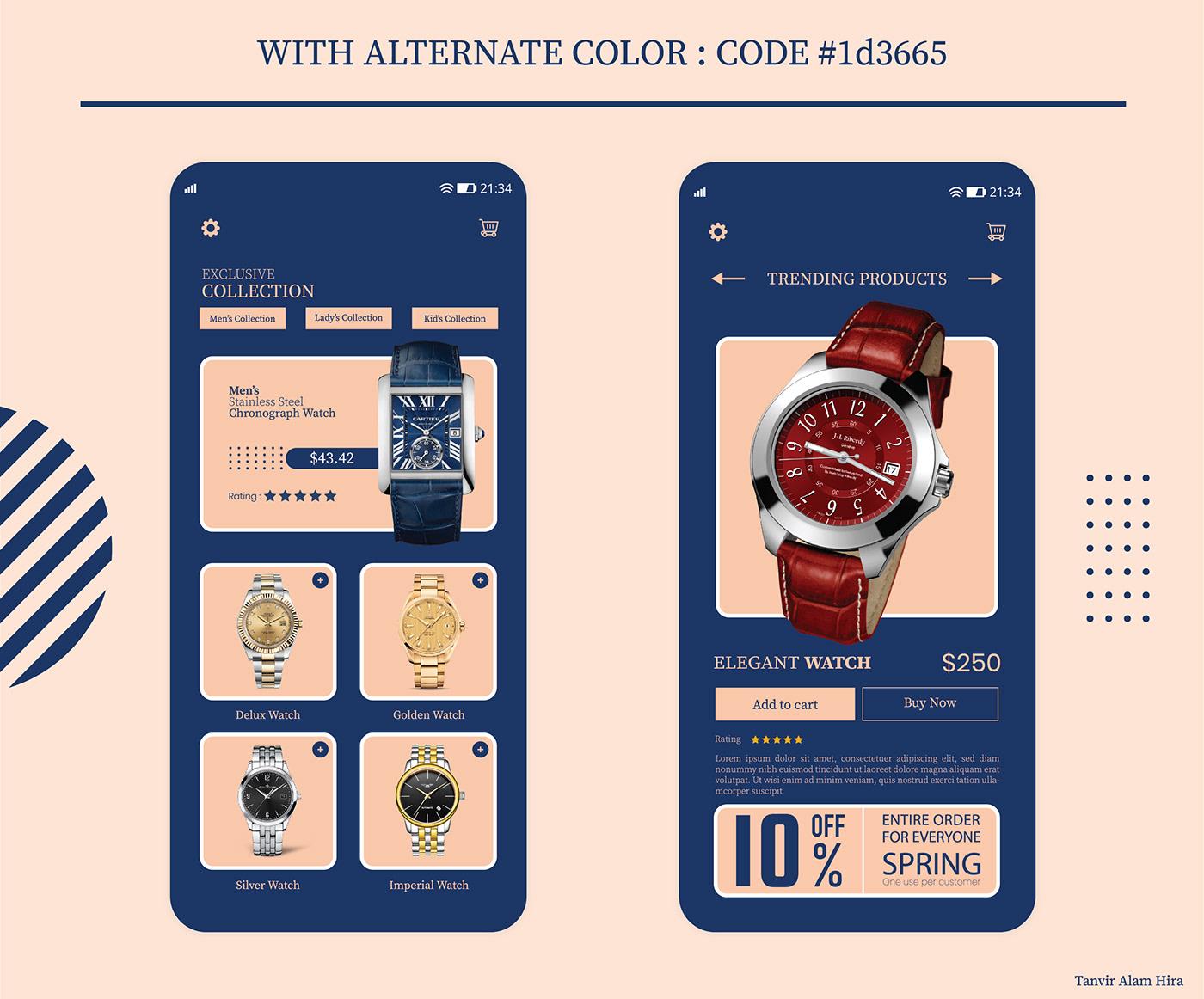Luxury Watch Shop Mobile UI