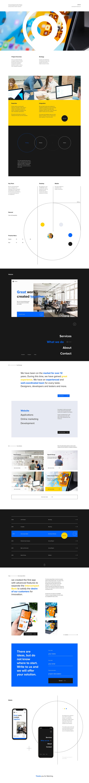 agency blue desktop digital mobile redesign Website yellow Figma Adobe XD