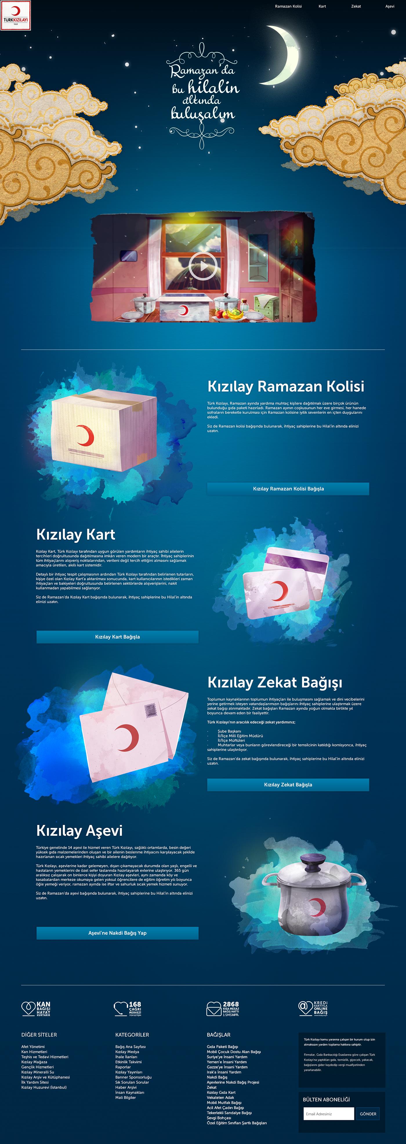 microsite landing page ramadan Red Crescent  kızılay donation
