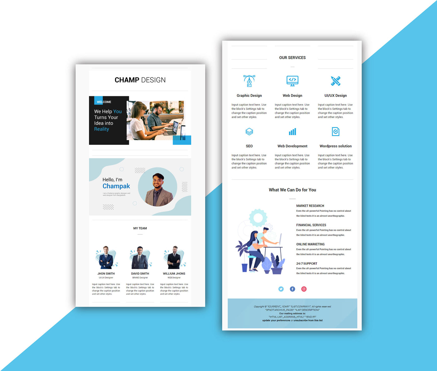email template landing page MailChimp template newsletters responsive template