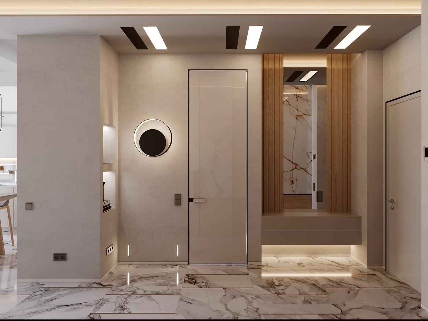 design DE&DE VizLine Studio apartment Moscow