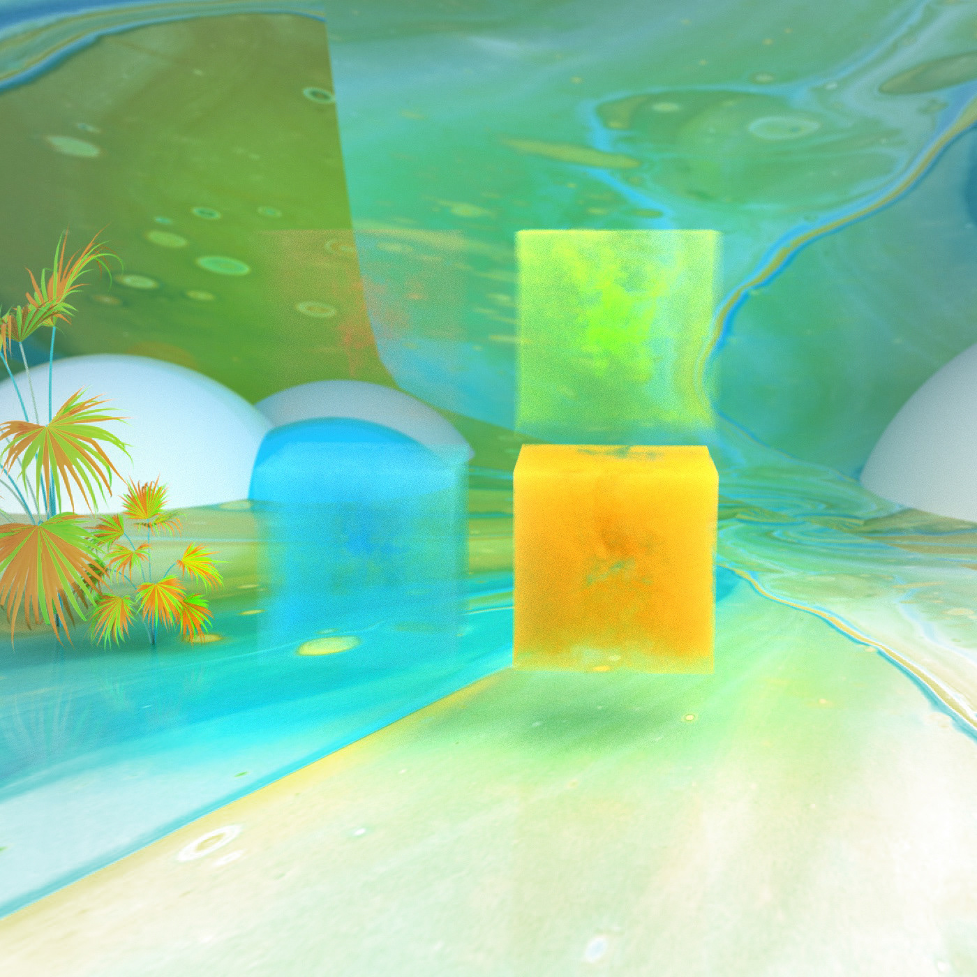 animation  art direction  Fluid Simulation logo Microsoft Microsoft Design Octane Render particle rendering SideFX Houdini