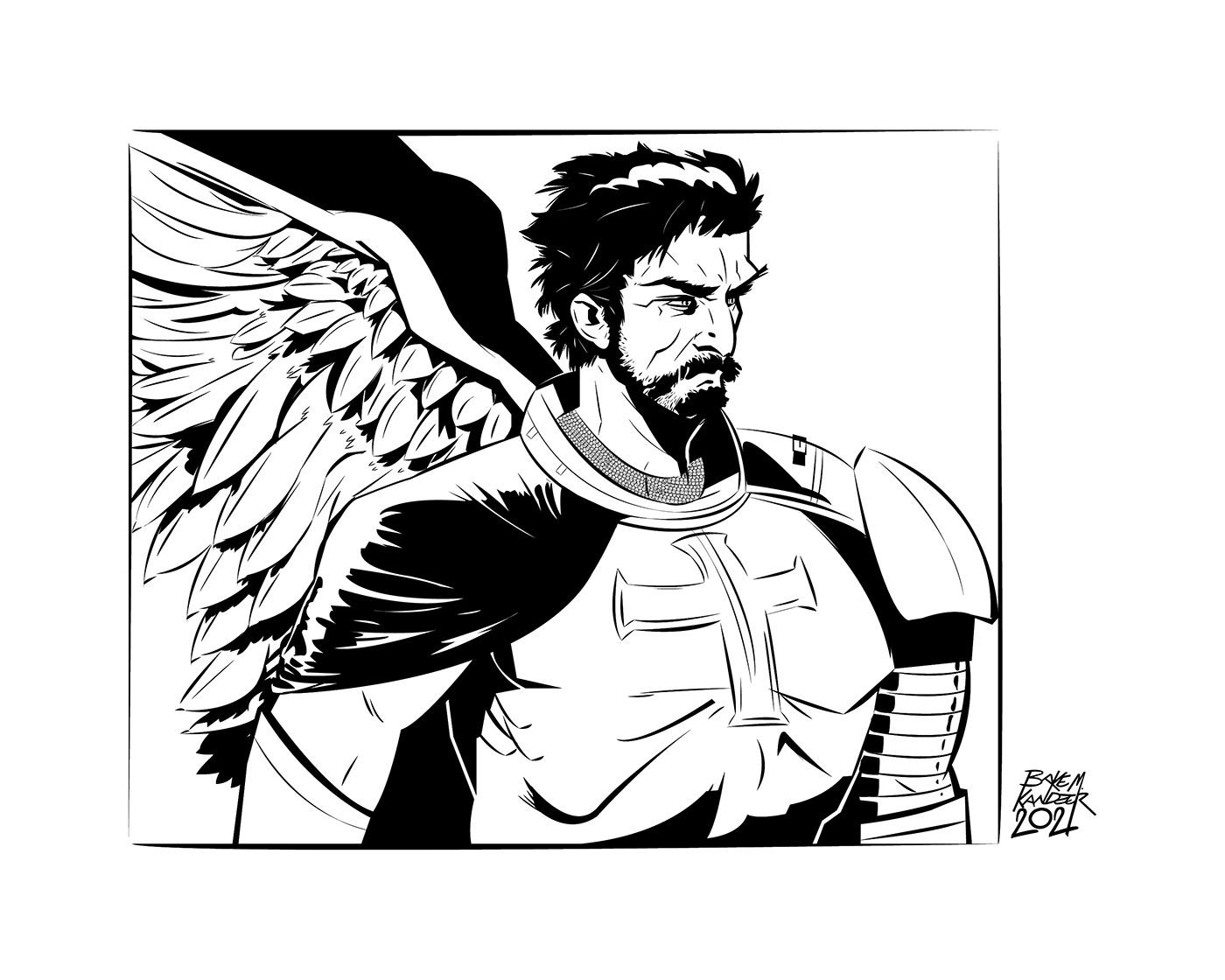angel Character design  comics commission ILLUSTRATION
