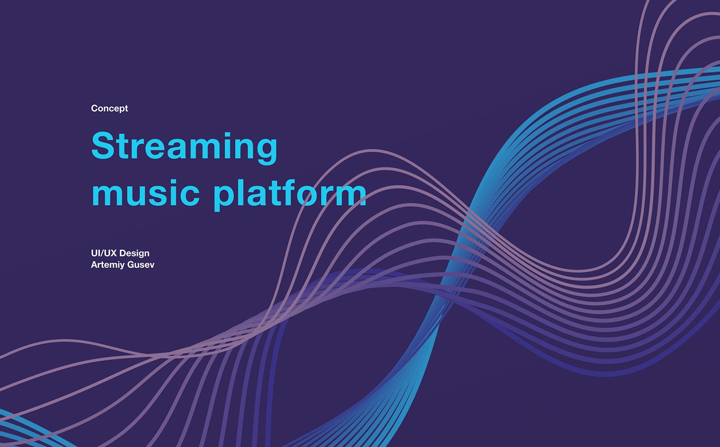 Website UI/UX UI design concept music