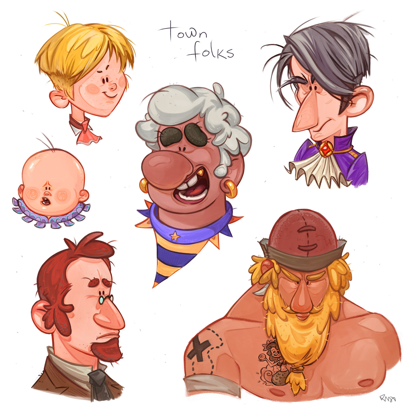 pirate Character sketch Drawing  digital painting   2D story children's