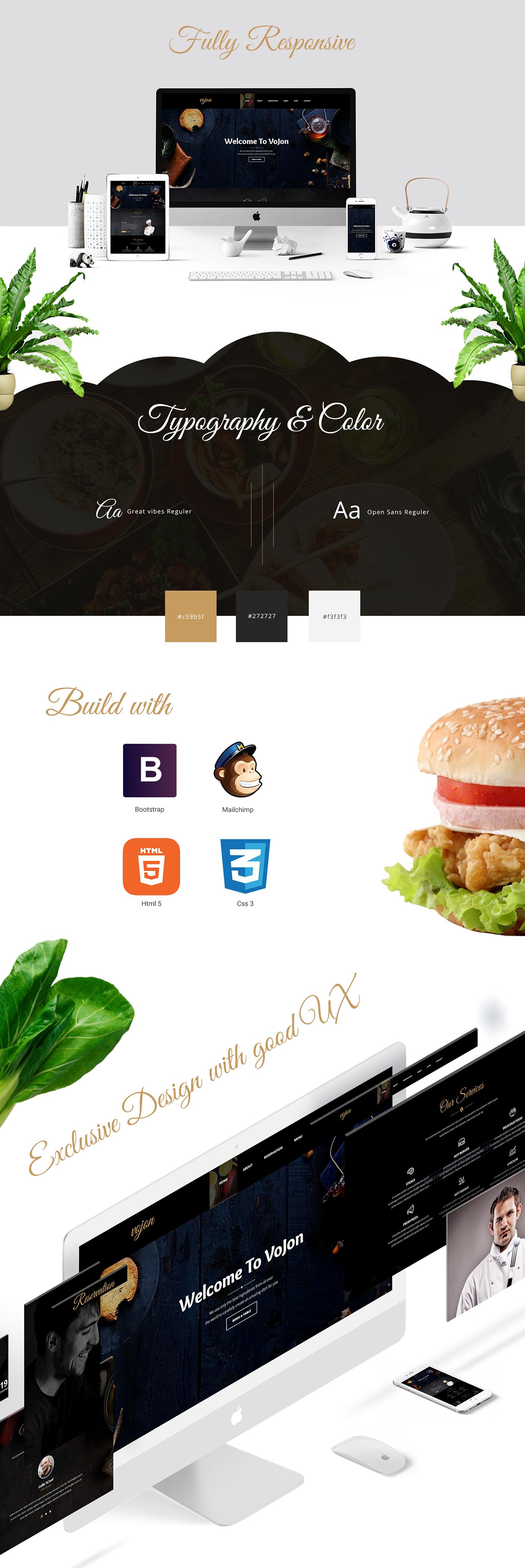 free freebie Free Template free html template HTML Template restaurant template UI ux restaurant design