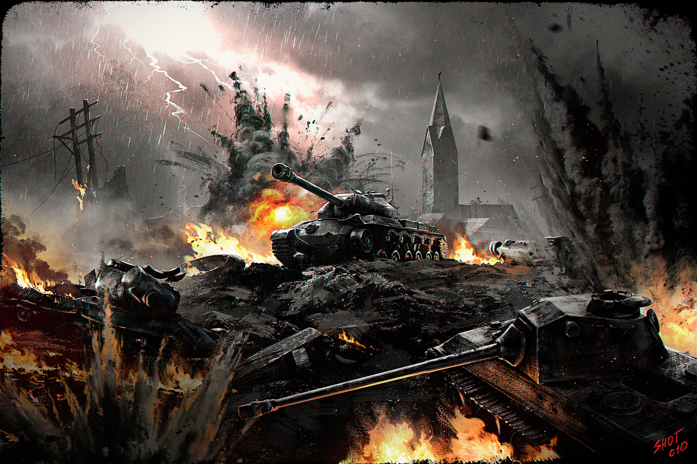 TV Commercial world of tanks concept art Advertising  hussars tanks poland compaign illustrations