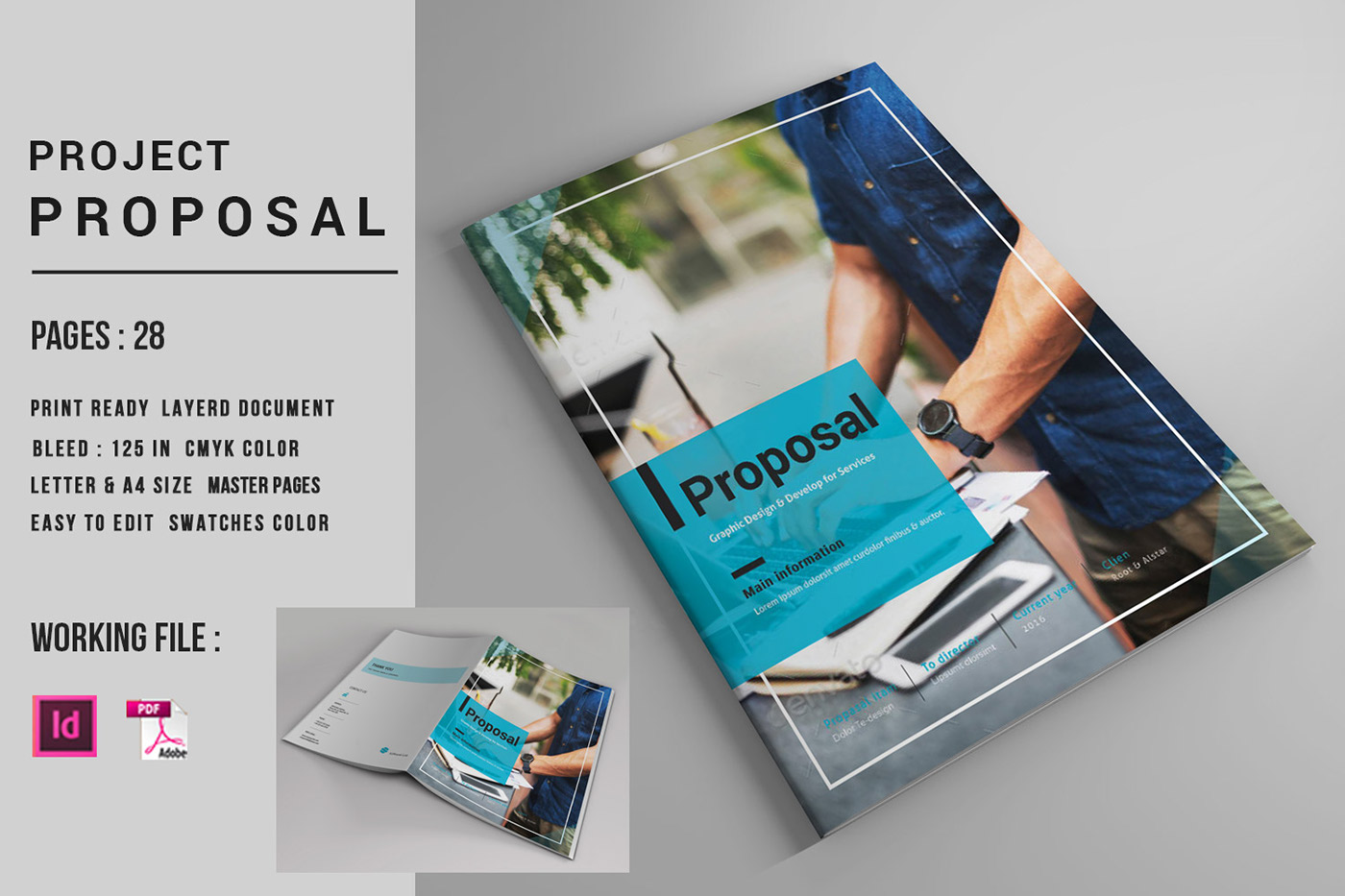 indesign business proposal template on behance