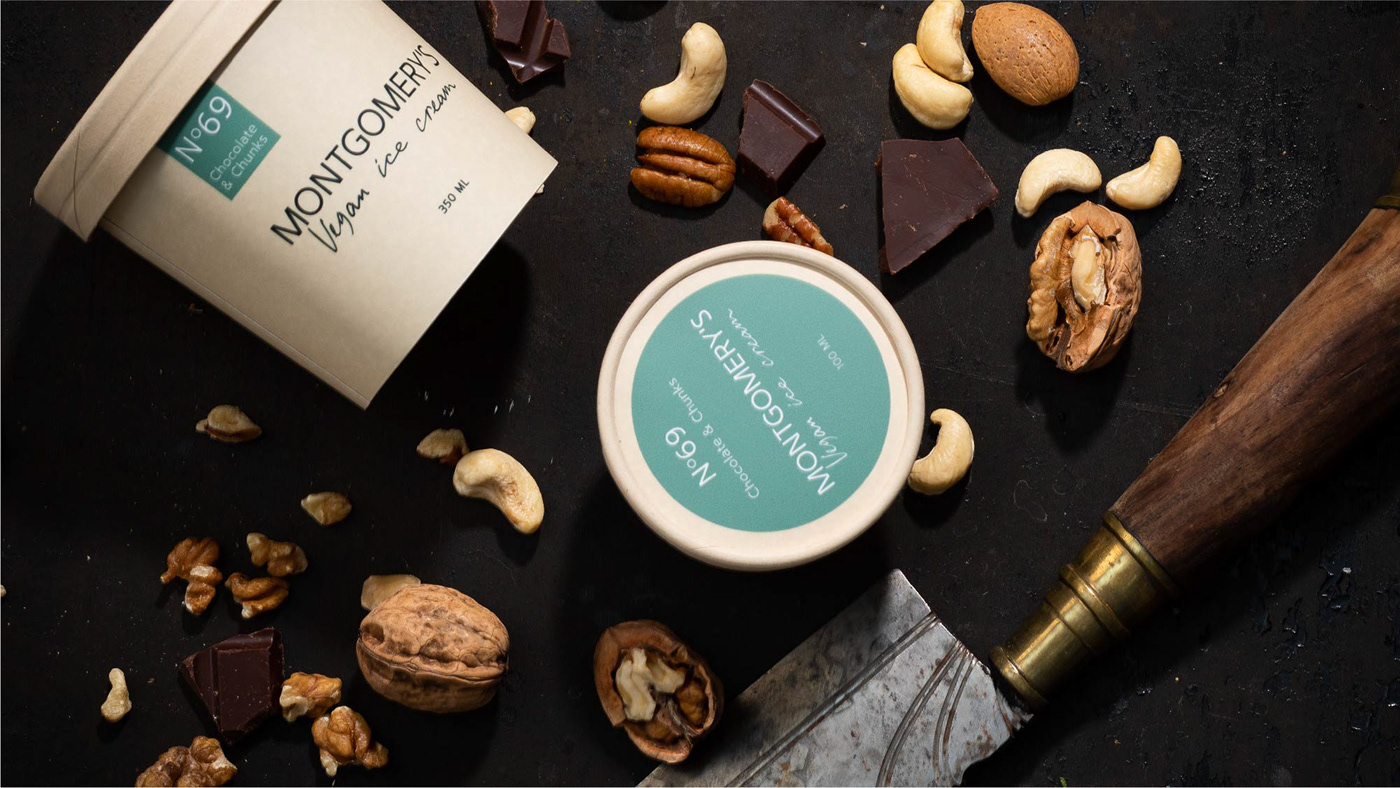 batches brand identity chocolate handwriting ice-cream logo nuts Packaging stickers vegan
