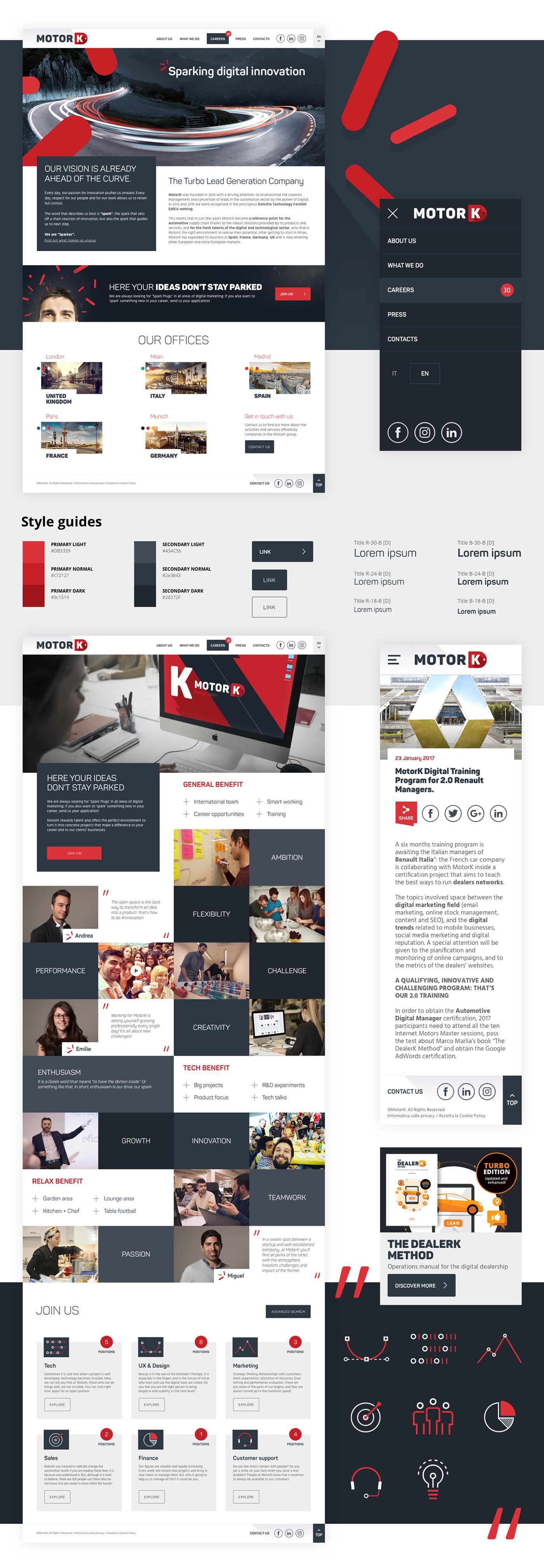 Website automotive   art direction  ui design
