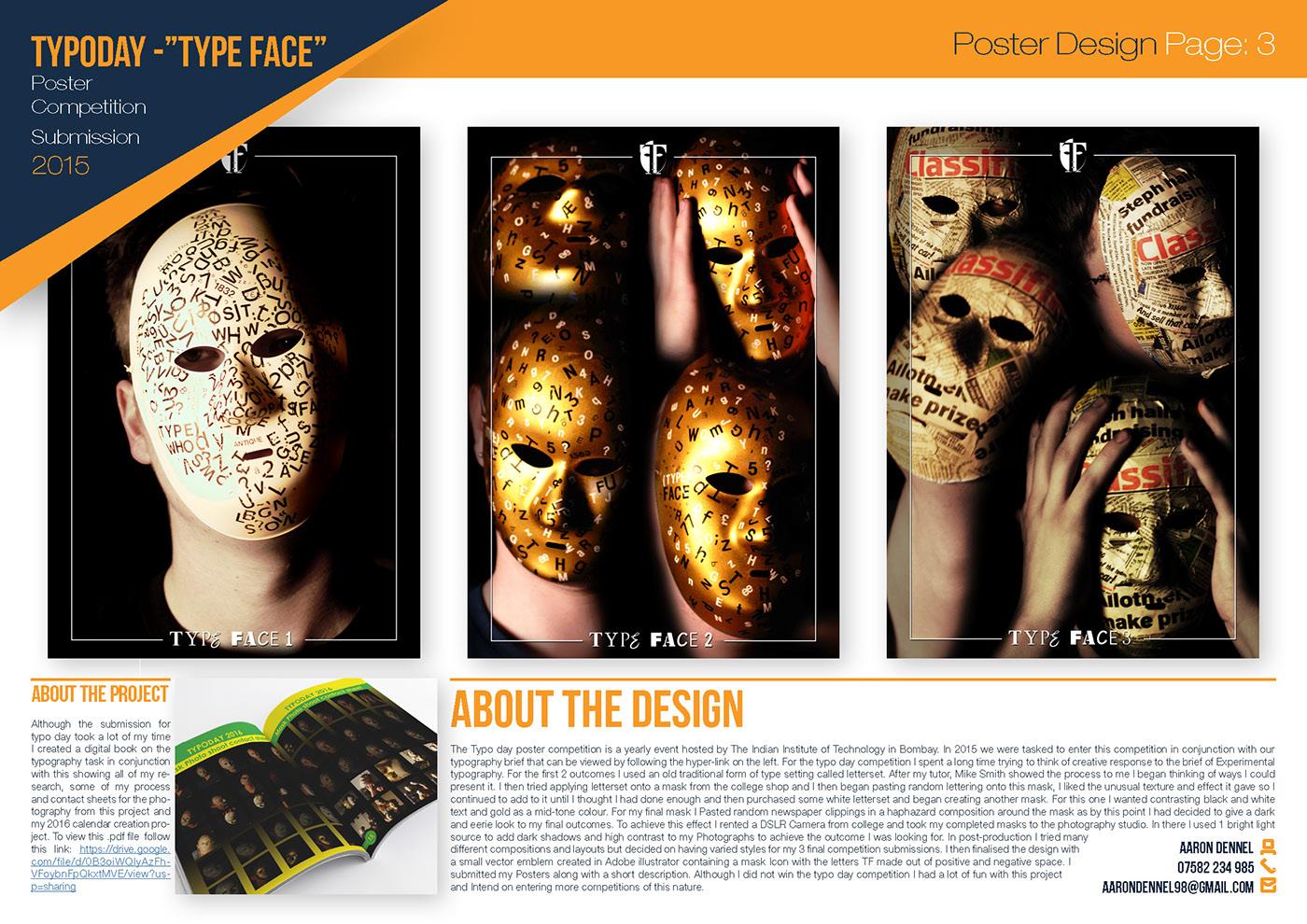 mask face black interesting typography   Emotional type