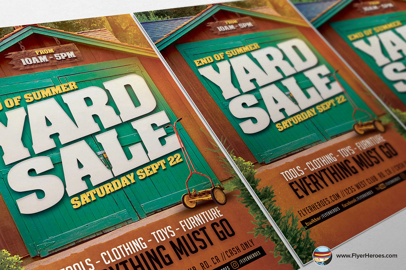 end of summer yard flyer template on behance end of summer yard flyer template is a premium photoshop psd flyer poster template designed by flyerheroes to be used photoshop cs4 and higher