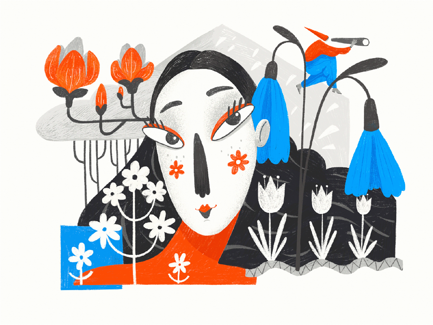 autumn digital painting illustrators Nature PROCREATE ART seasons spring summer winter year