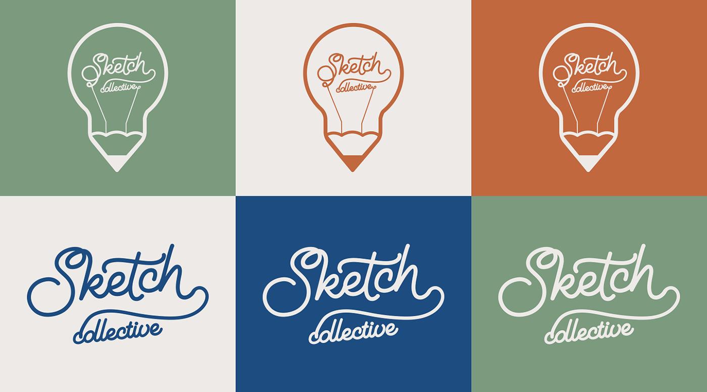 branding  interior design  Sketch Collective visual identity Disjointed Work Environmental Deisgn Gift Shop Logo Design Brand Design souvenir shop