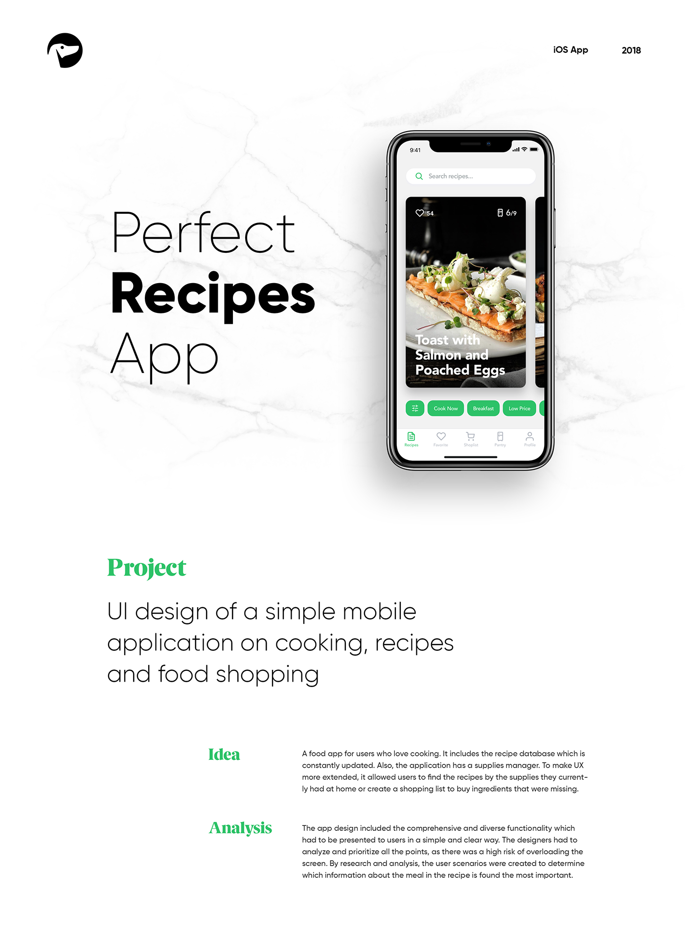 Mobile UI Design: Perfect Recipes App on Behance