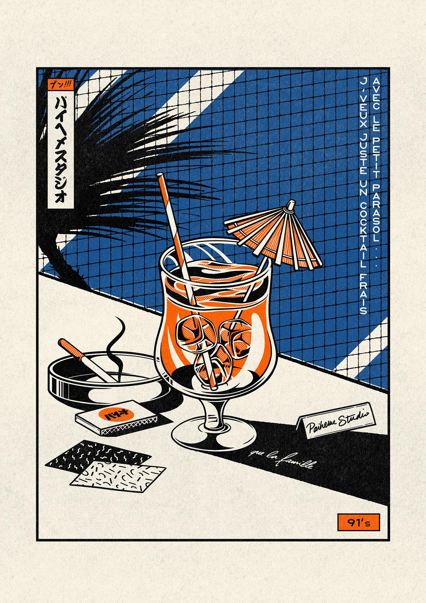 paiheme Japaneseprint japanese vintage Retro japanesegraphism typography   paihemestudio rap