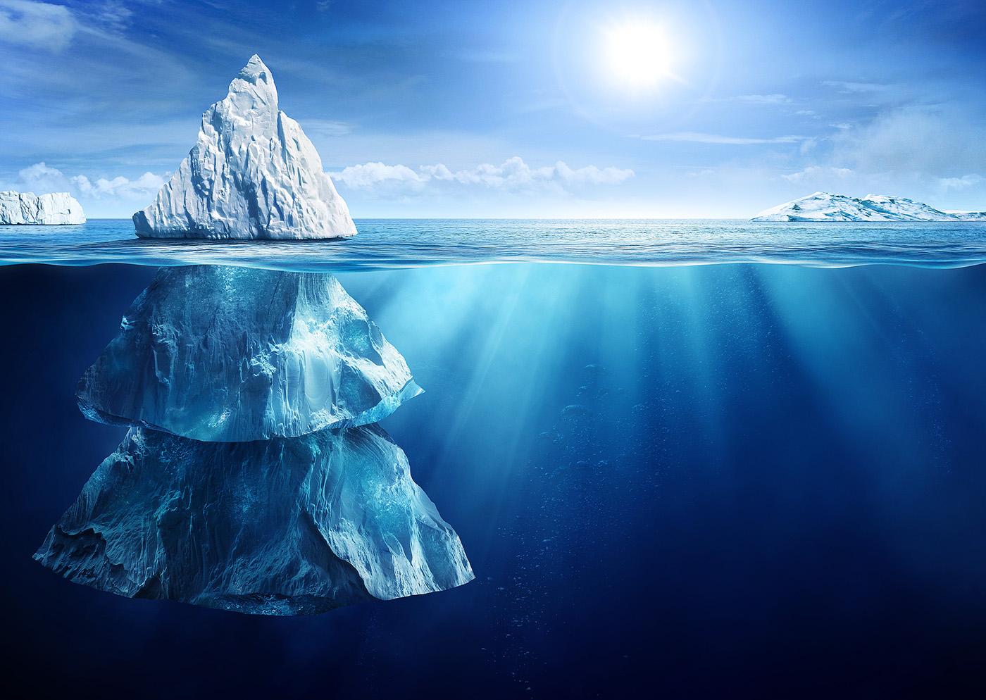 фотострана предлагает фото подводной части айсберга любом