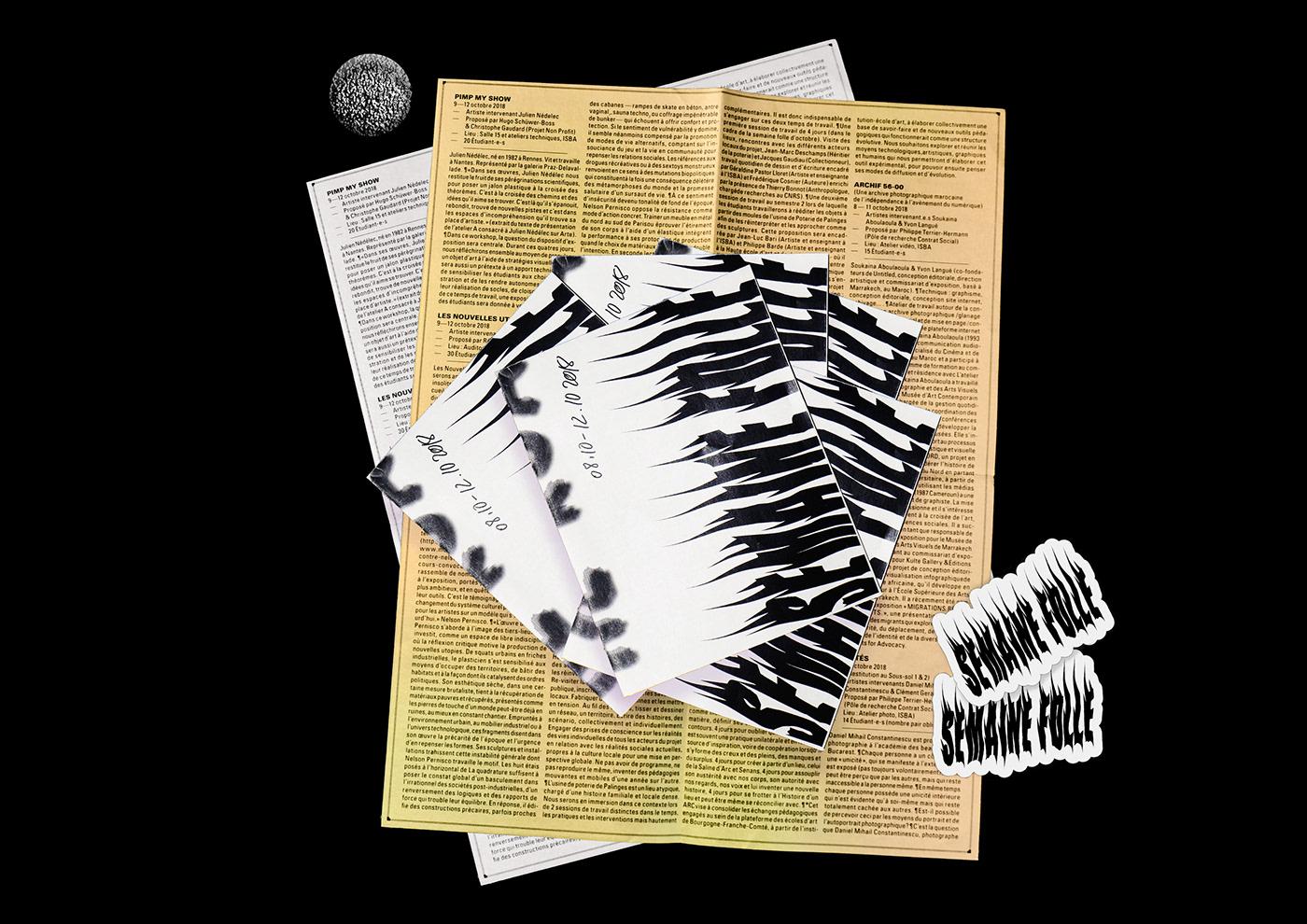 graphisme Graphic Designer Collaboration programme flyer depliant art visuel scanner mobile impression art