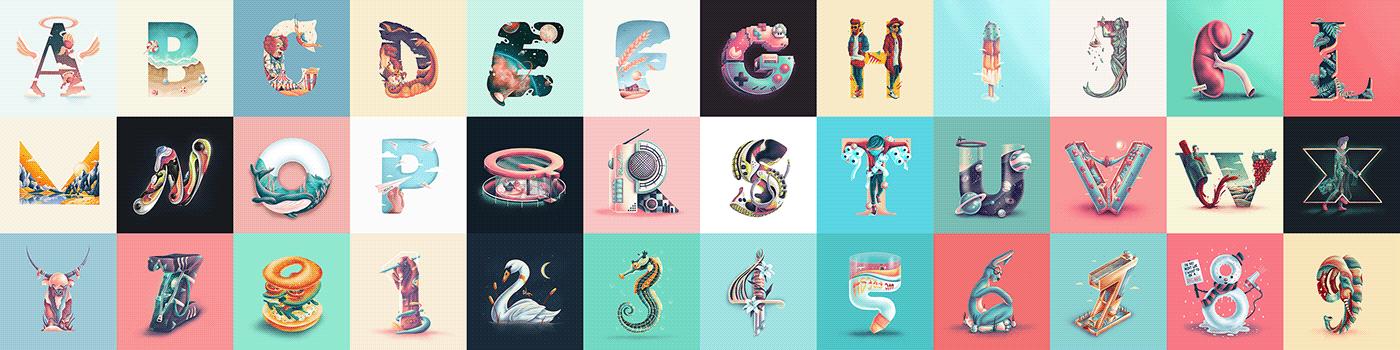 36 days 36daysoftype challenge Digital Drawing digitalart ipad art ipad illustration Procreate