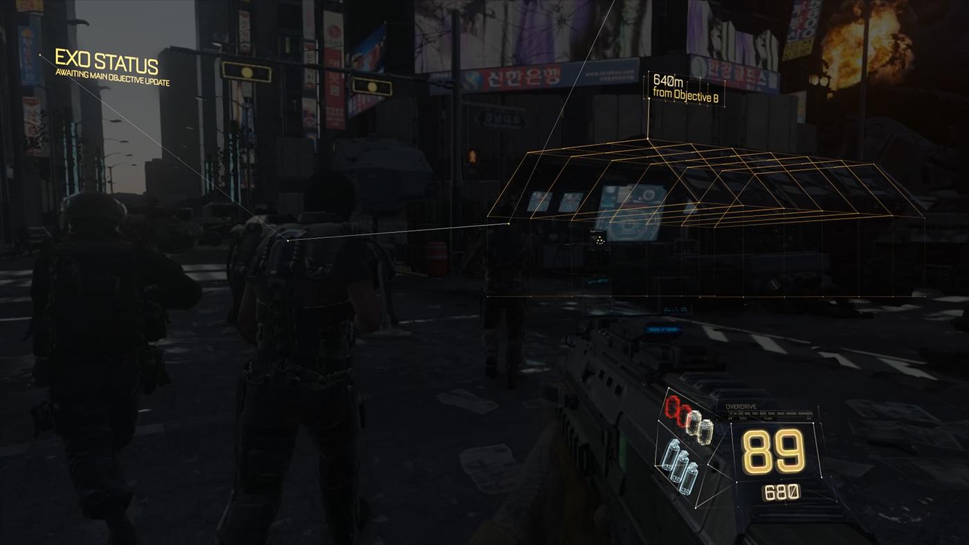 Call Of Duty Advanced Warfare Heads Up Display On Behance