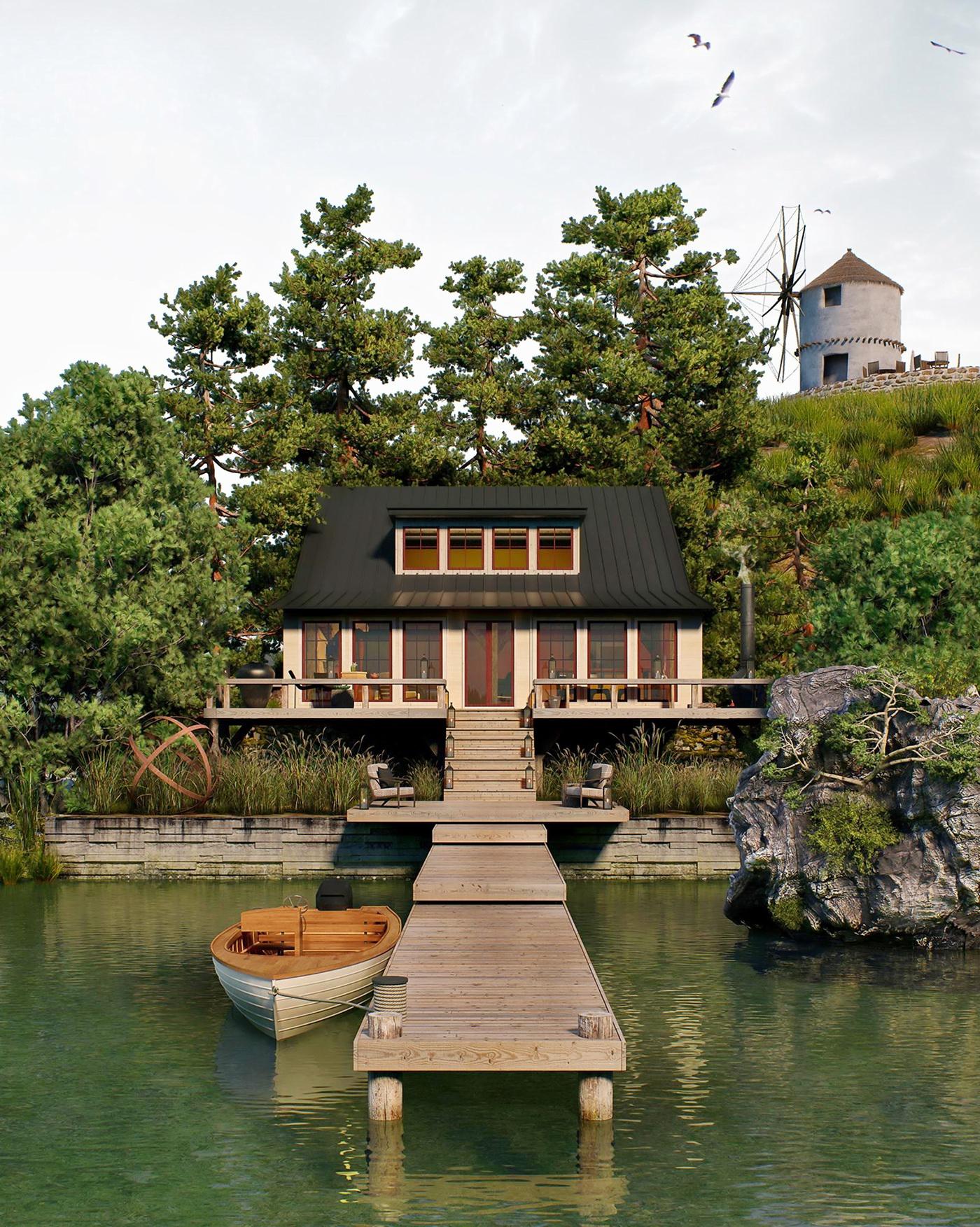 закрытого типа дом на берегу реки смотреть фото опыт наших сотрудников