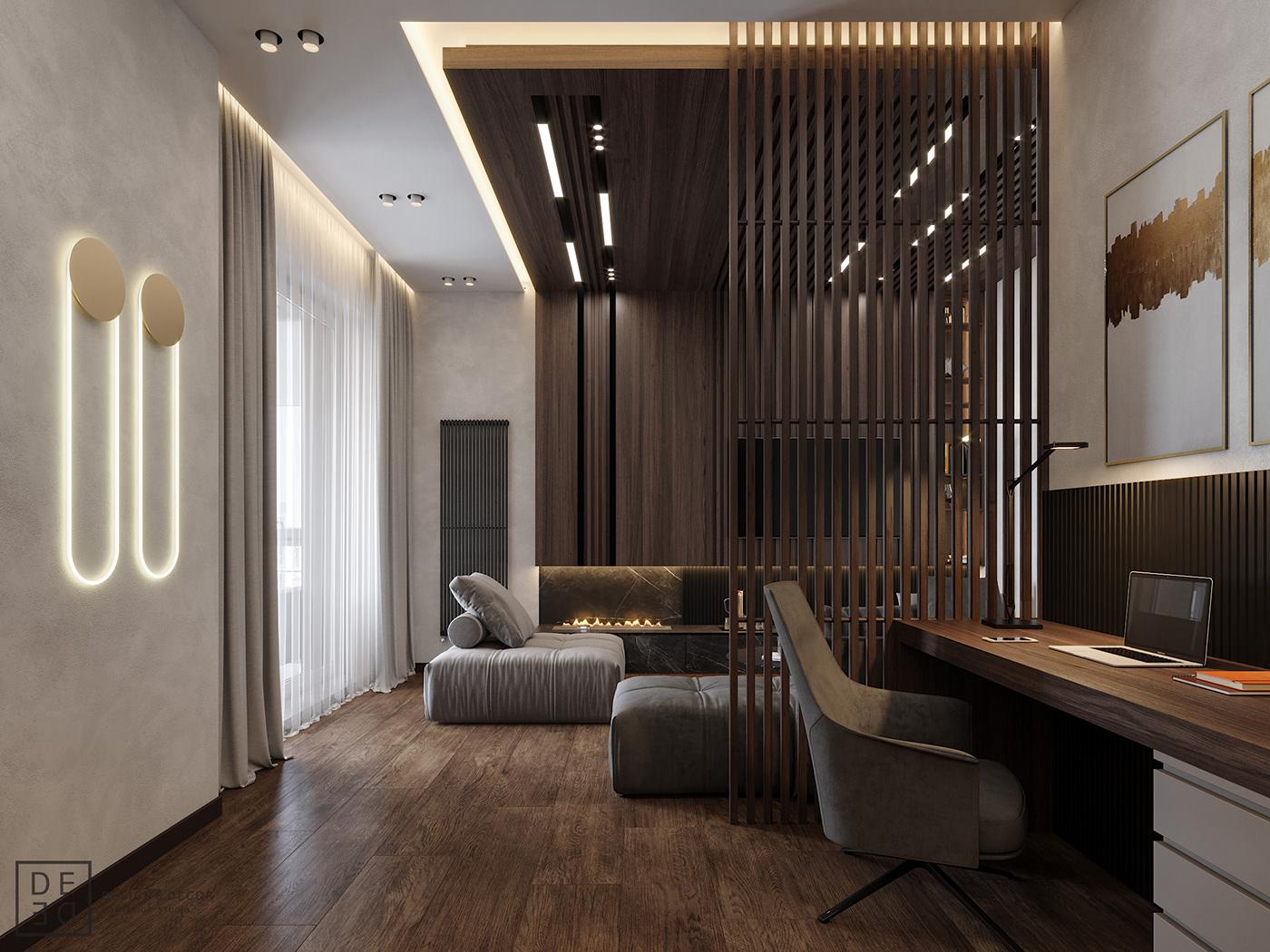 Interior design interiordesign Minimalism modern DE&DE Interior Studio designer corona render  3ds max architecture