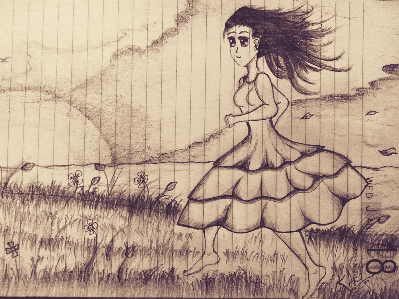 art Pencil Art paper art sketch Digital Art  Drawing
