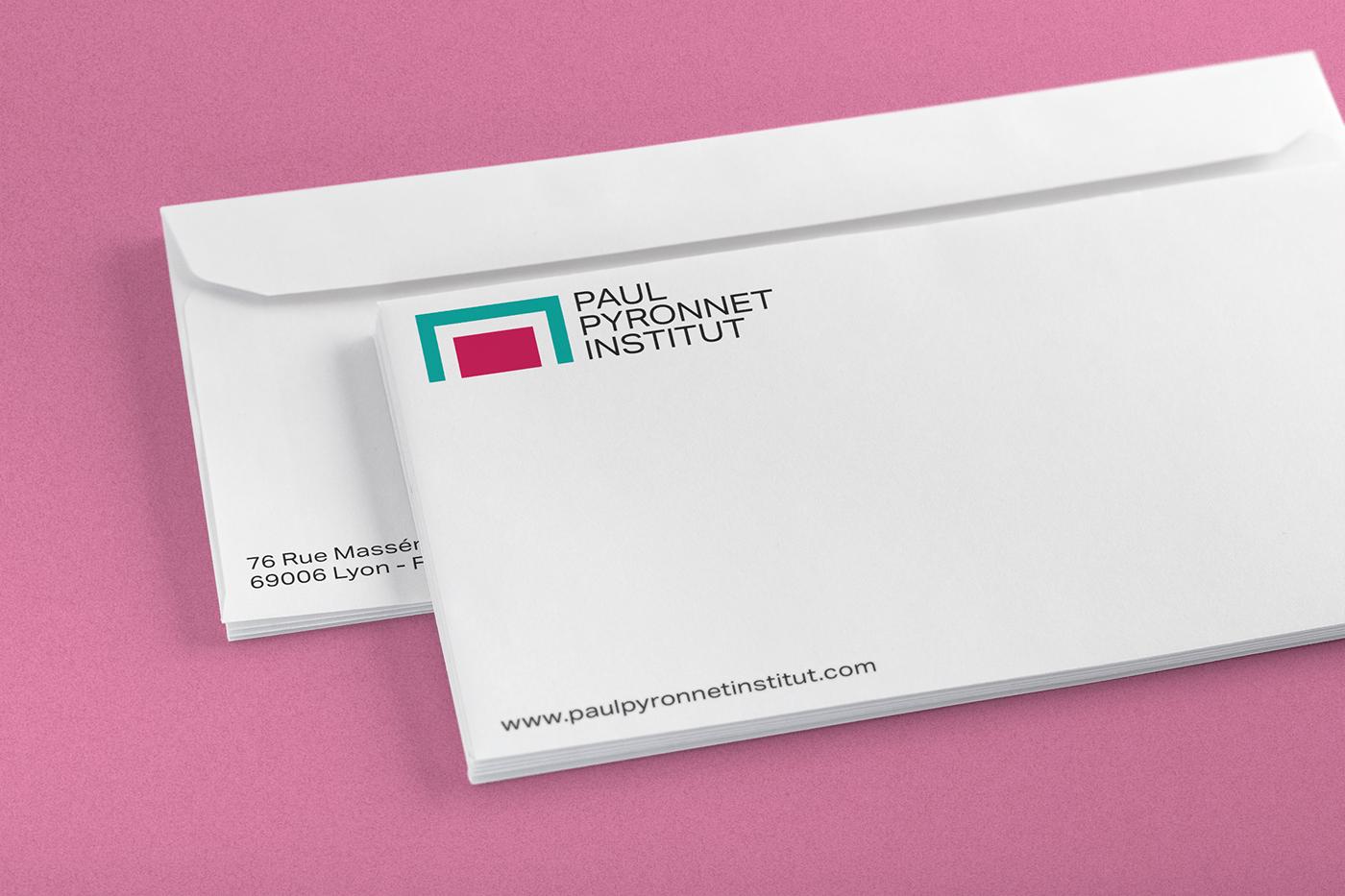 Paul pyronnet institut envelopes new logo