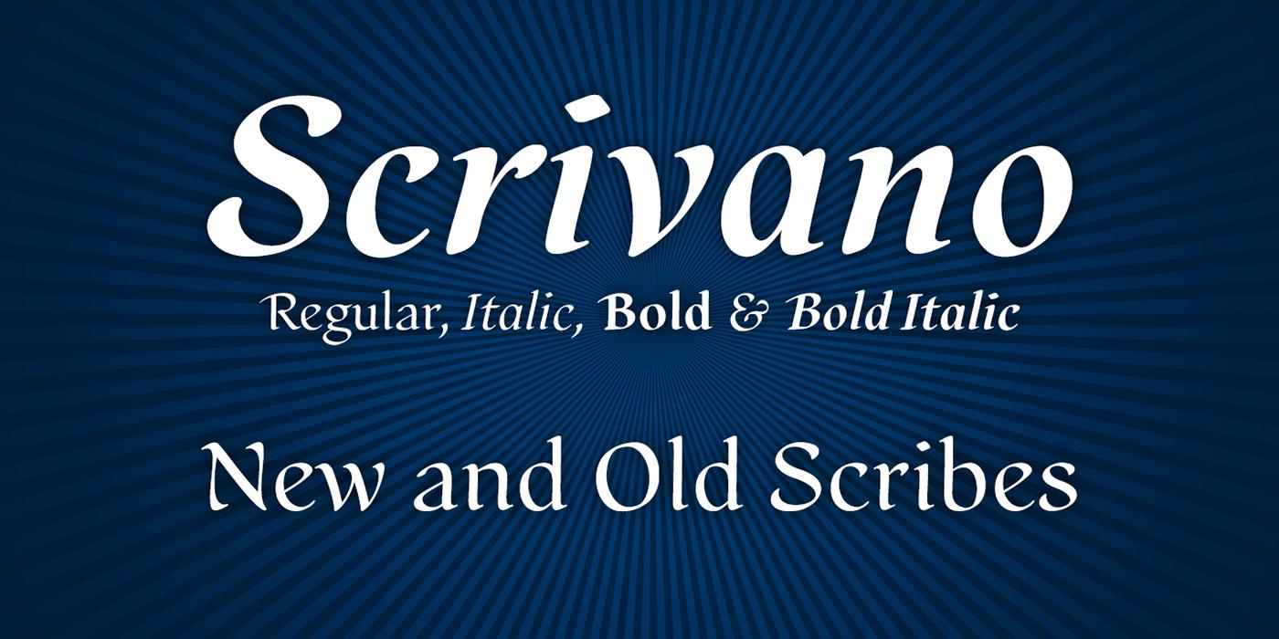 scrivano medieval renaissance organic type design font typeface