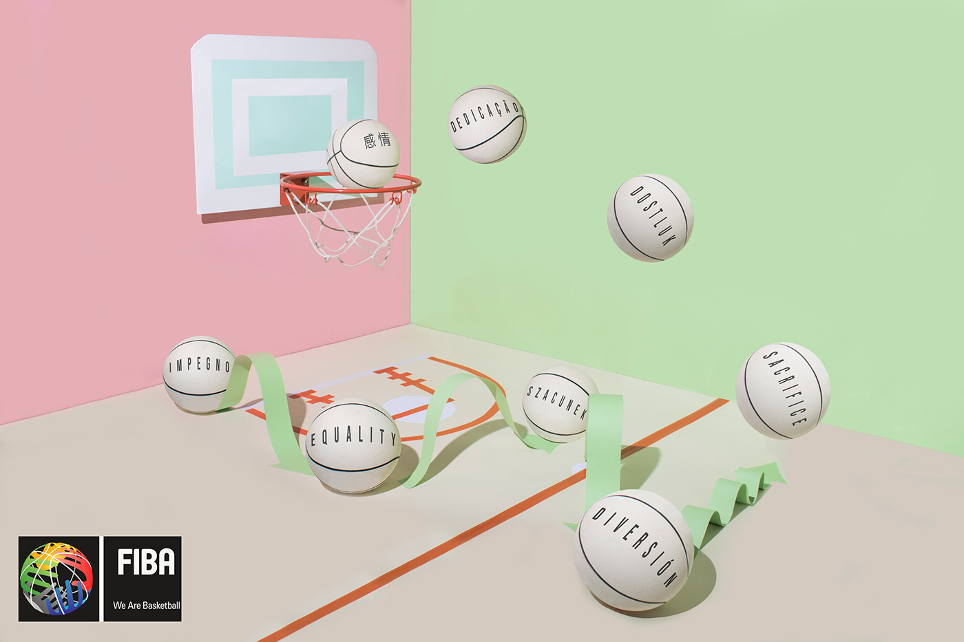 Advertising  Advertising Campaign basketball Design Graphic desing fiba Photography  still life