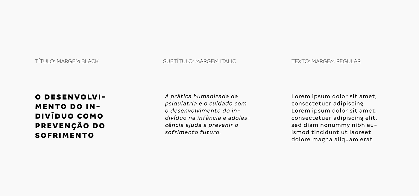 Exemplo da tipografia escolhida para a marca