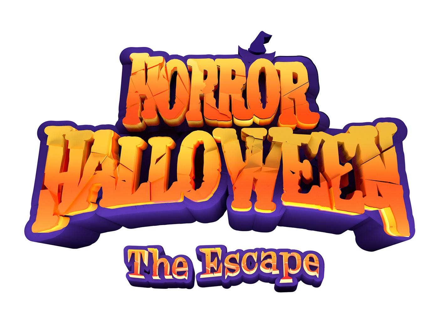 3D 3dmodeling Character characterdesign festival Halloween ILLUSTRATION  Keyvisual lotteworld poster