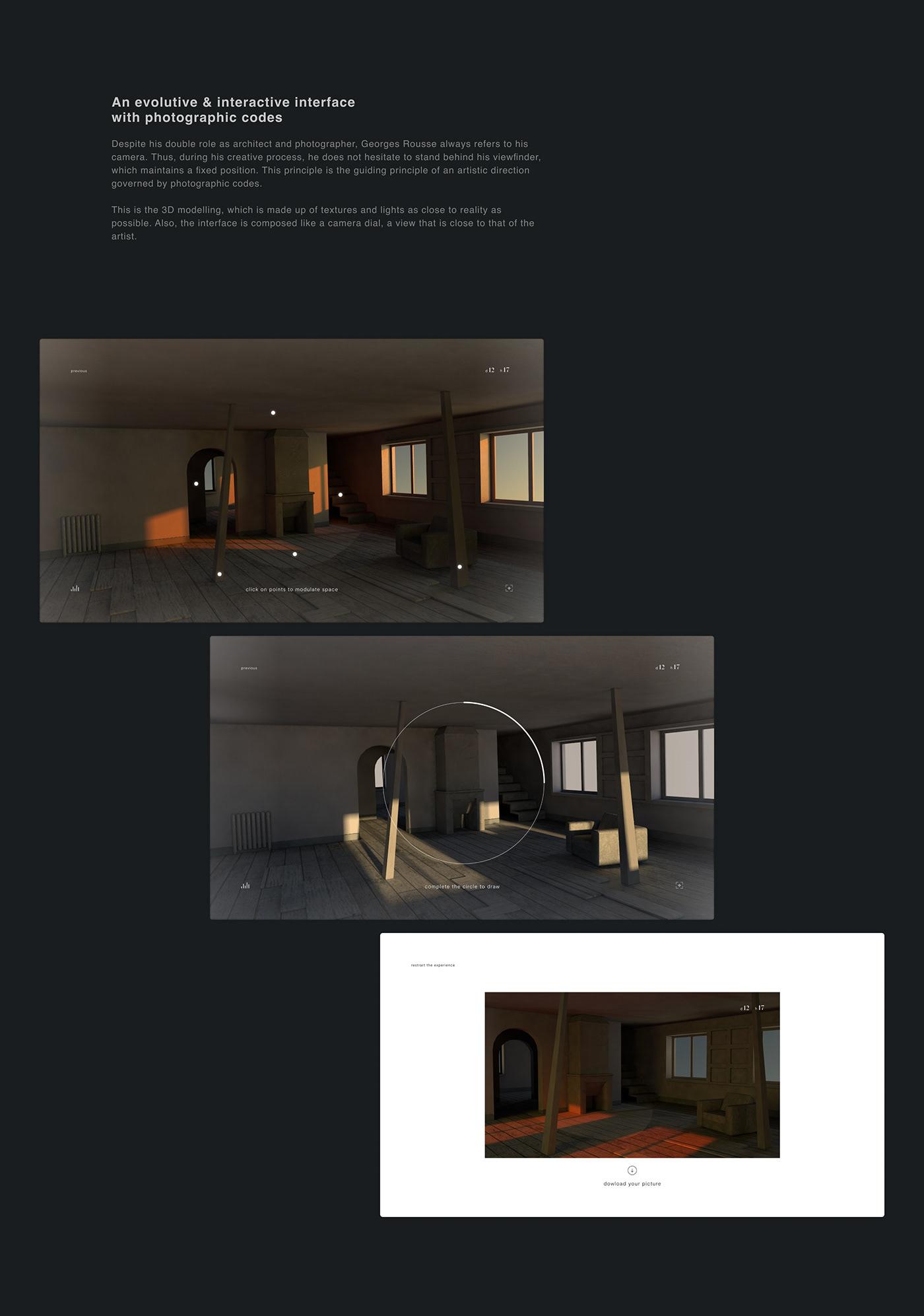 3d modeling gobelins immersive interactive Interface UI Website