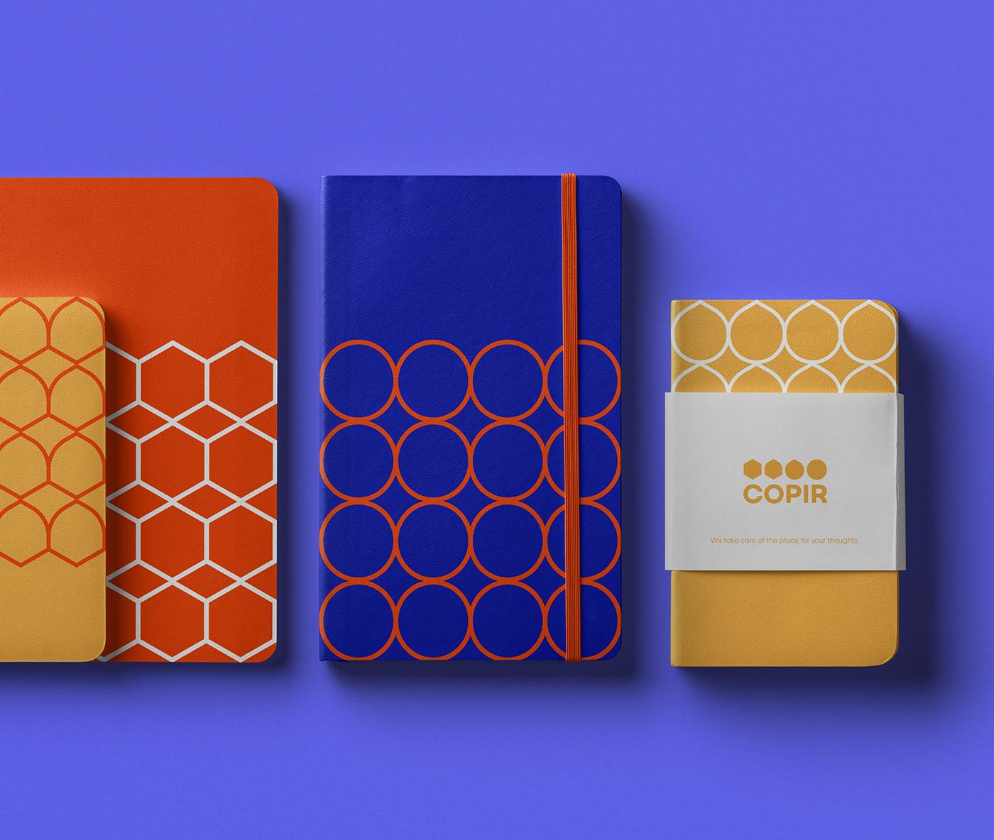 branding  Geometric figures graphic design  identity logotype design pattern printing house