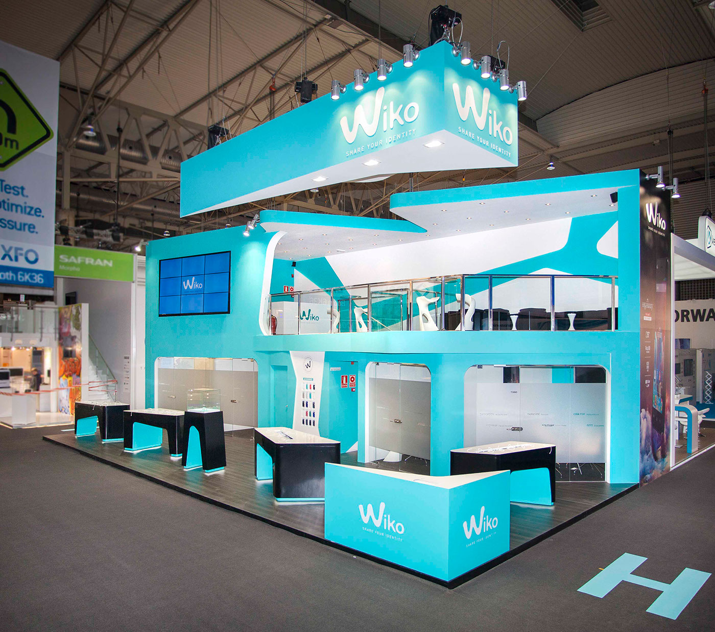 Exhibition Booth Design Johor : Booth design wikomobile mobile world congress on