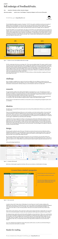 Education edtech Interaction design  information architecture  redesign ux UX design